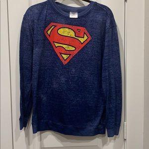 Superman Distressed Long sleeve Top